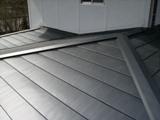 屋根葺き替え、横葺き