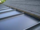 増築工事の屋根接続部分の